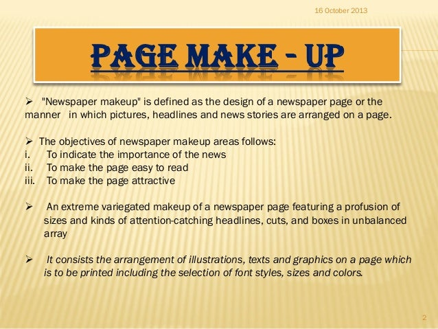 What are the different types of newspaper headlines and their definitions?