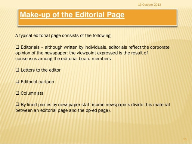 What am I supposed to put in an Editorial paper?