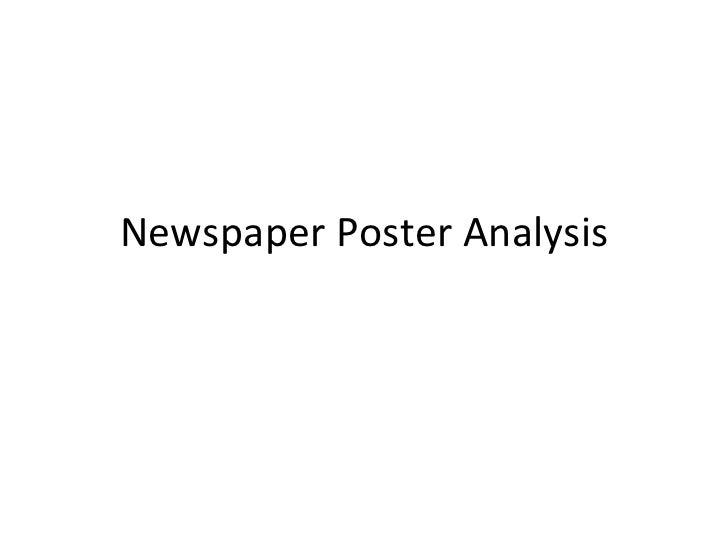 Newspaper poster analysis