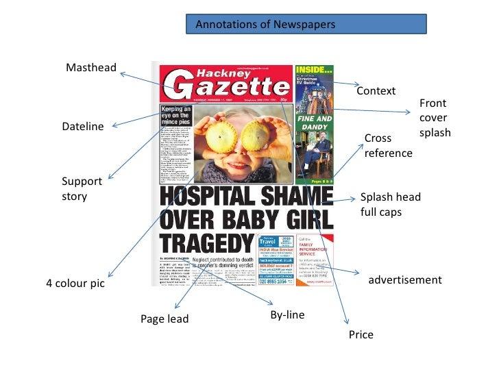 newspaper terms masthead