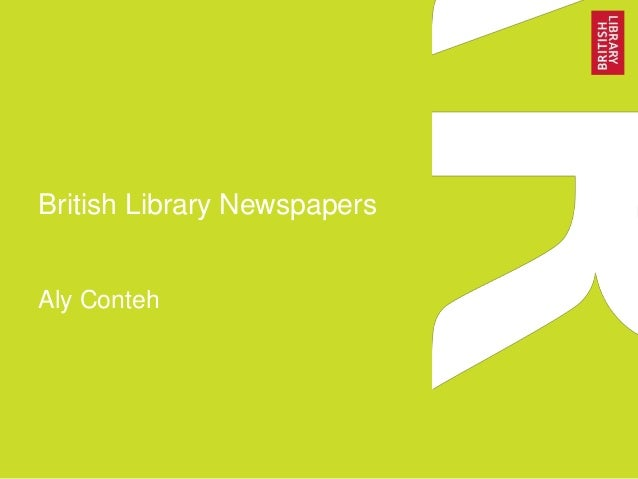 British Library Newspapers Aly Conteh