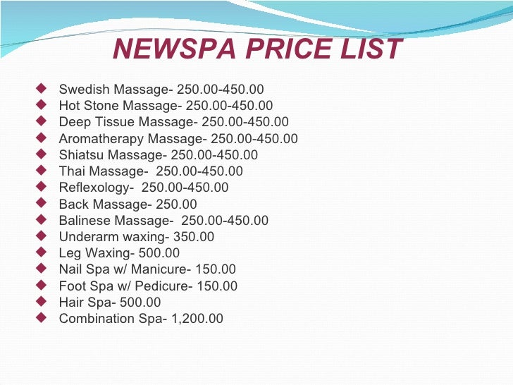 Retreat Nail Spa Prices