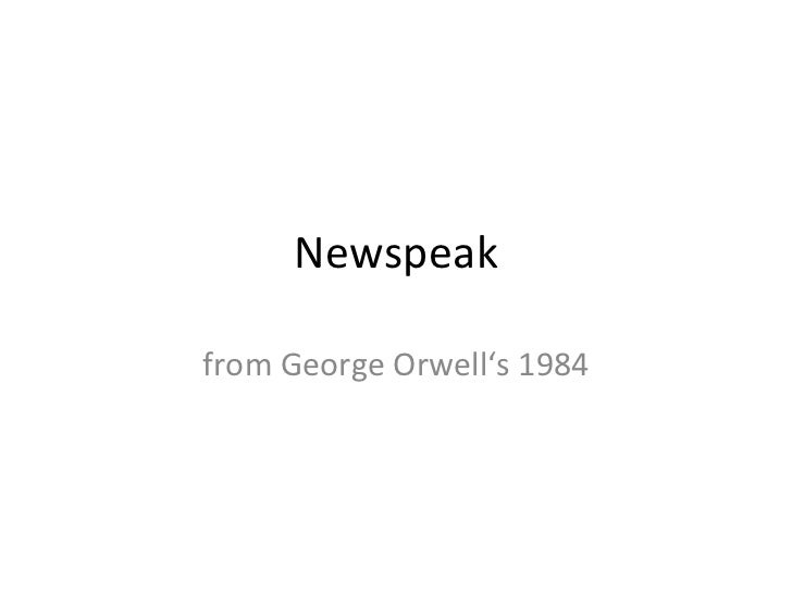 Newspeak from George Orwell's 1984
