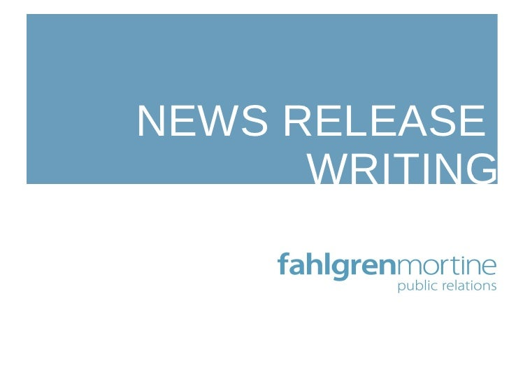 News Release Writing