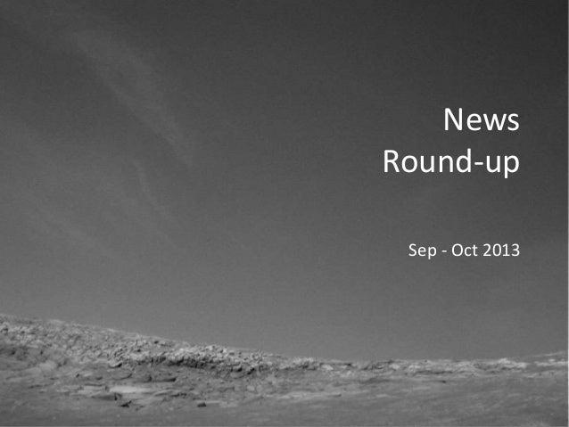 Vis Viva Space News Round-up — October 2013