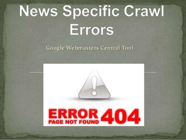 News Specific Crawl Errors