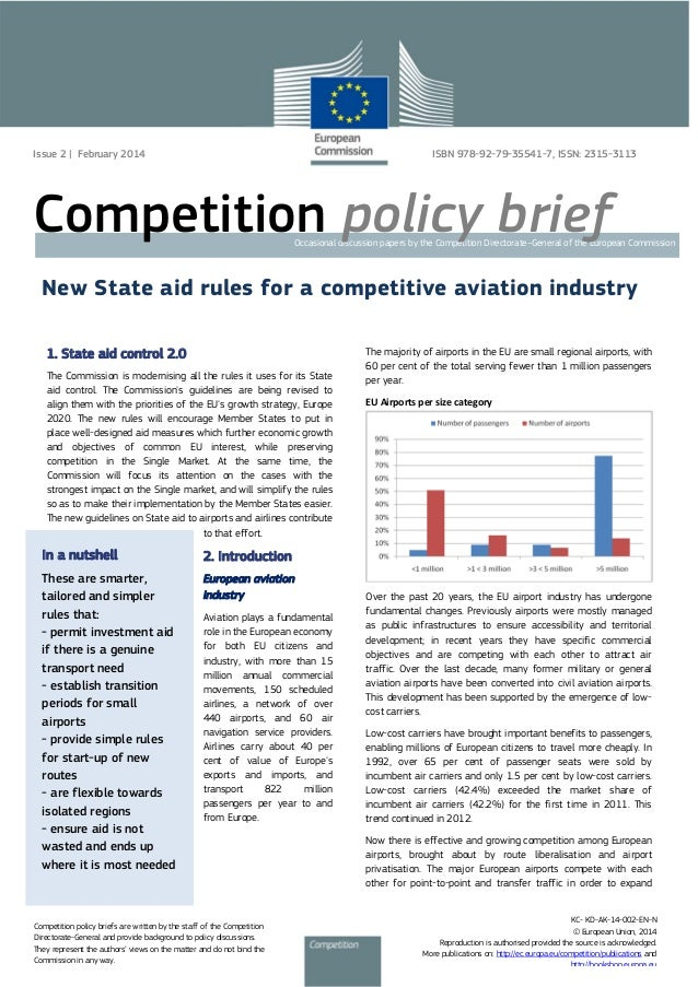 New State Aid Rules for a Competitive Aviation Industry