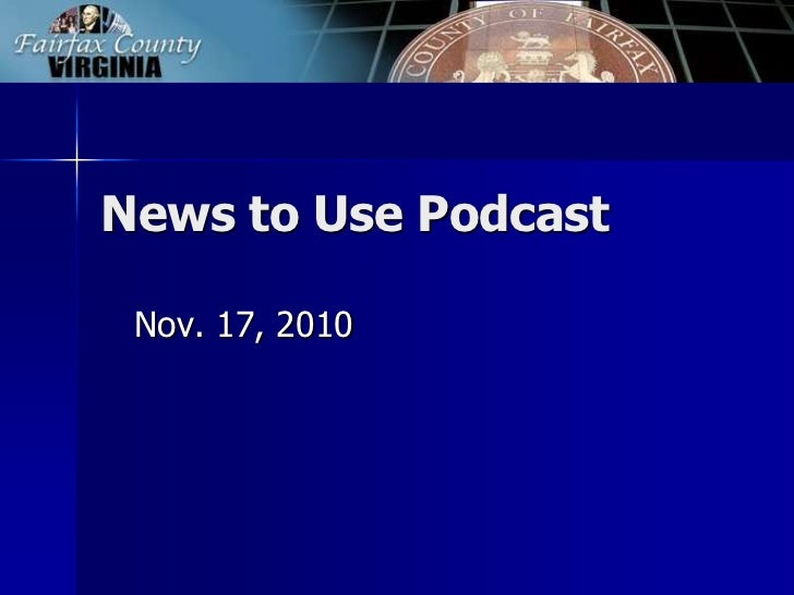 News to Use Podcast: Nov. 17, 2010