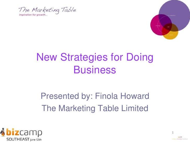 Finola Howard - New strategies for doing business