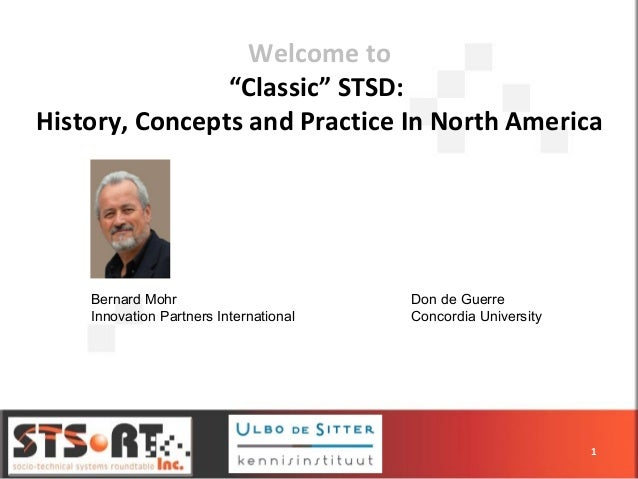 """Welcome to """"Classic"""" STSD: History, Concepts and Practice In North America 1 Bernard Mohr Innovation Partners Internationa..."""