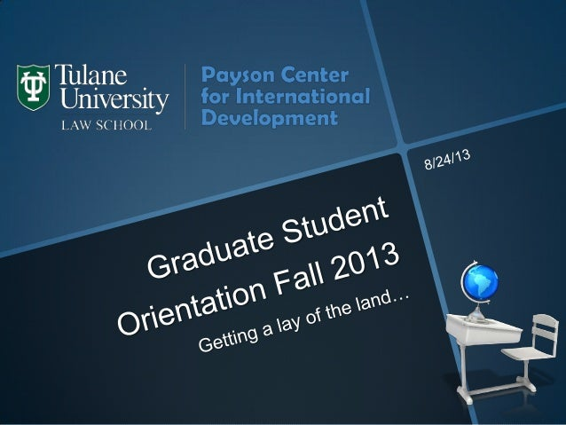 New graduate student orientation for Fall 2013