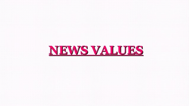 NEWS VALUESNEWS VALUES