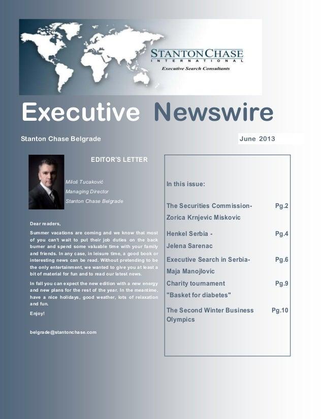 Executive Newswire june 2013 - Belgrade