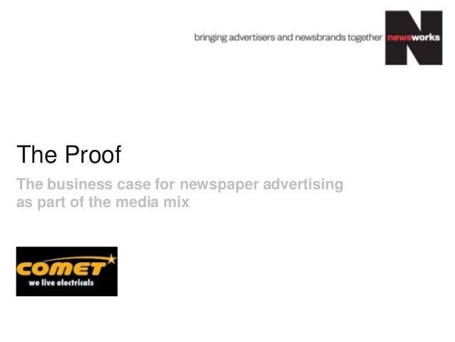 Newsworks Comet effectiveness study