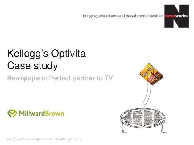 """Kellogg""""s and Optivita are registered trademarks of Kellogg Company Kellogg""""s Optivita Case study Newspapers: Perfect part..."""