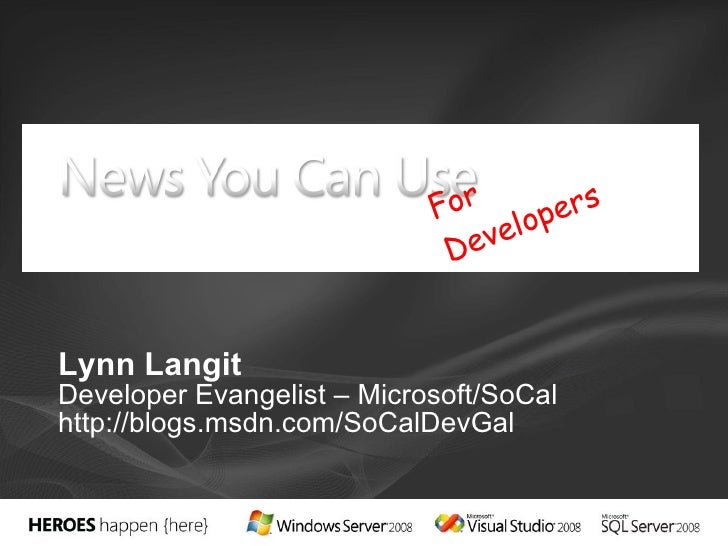 SoCal MSDN Launch