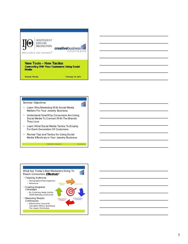 New tactics new tools ijo spring 2012  slideshare version