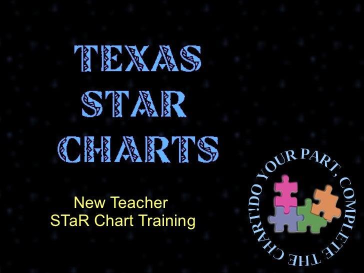 New Teacher  STaR Chart Training Texas Teacher STaR Chart DO YOUR PART, COMPLETE THE CHART!