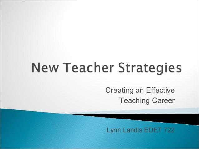 New teacher strategies 1