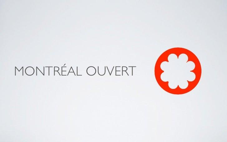 Montreal New Tech demo - Montréal Ouvert