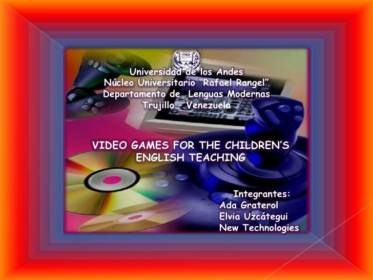 Video Games For Children's teaching English