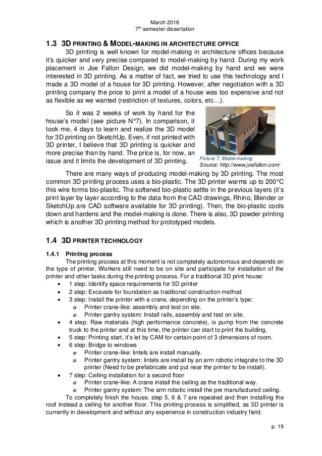3D Printing technology dissertation help uk