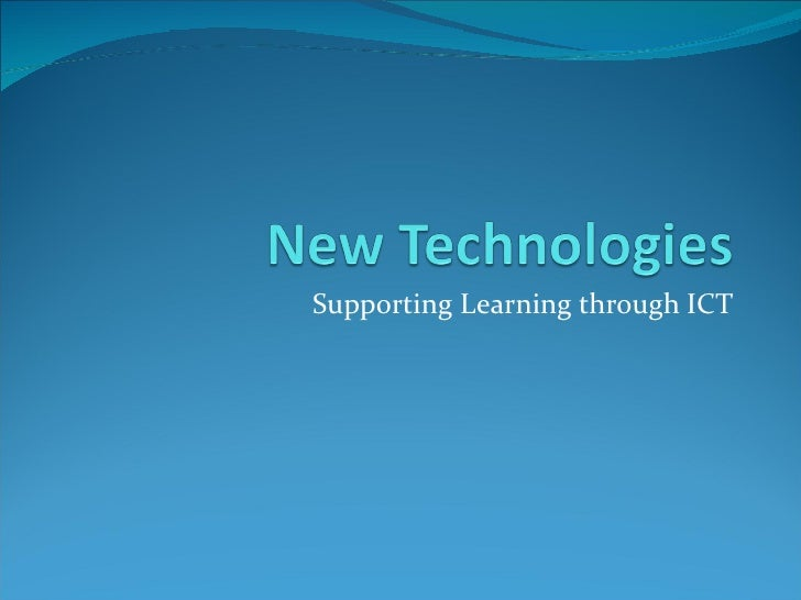 New Technologies for PGCE trainees