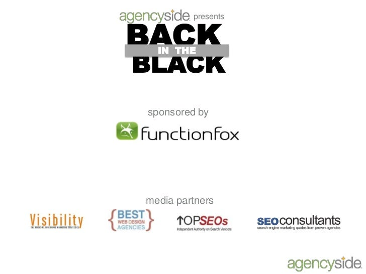 presents<br />BACK<br />IN  THE <br />BLACK<br />sponsored by<br />media partners<br />