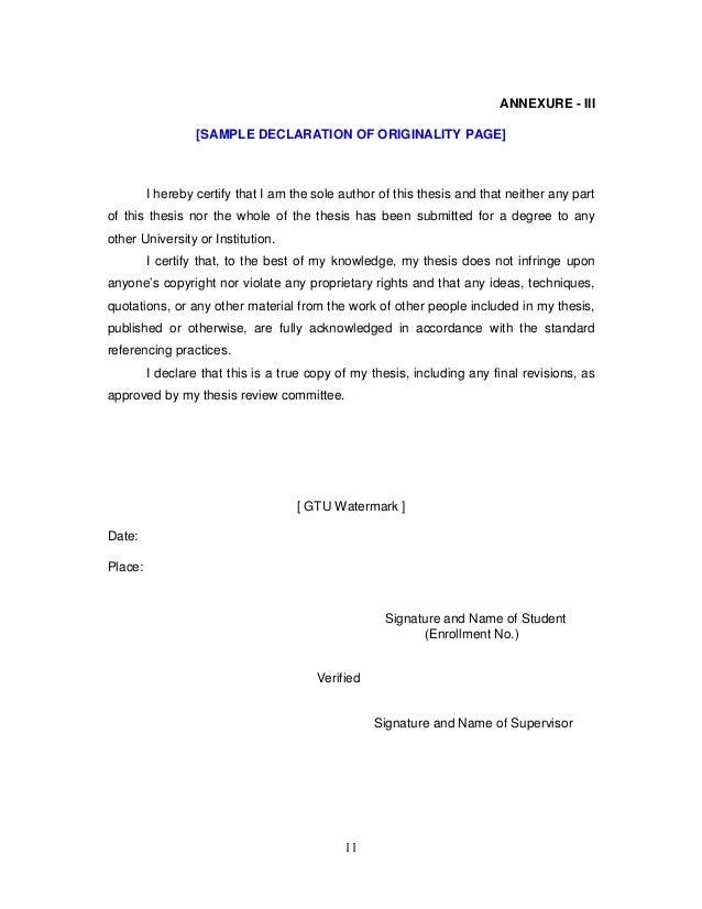 Dissertation statement of originality