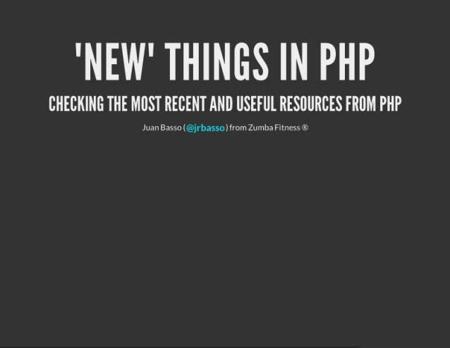 New things in php