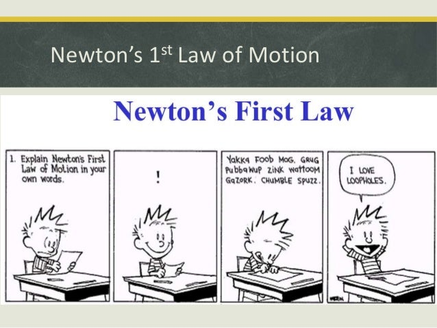 Newton S 1st Law Of Motion 2014