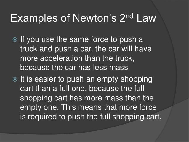 newton u2019s laws of motion with real life examples