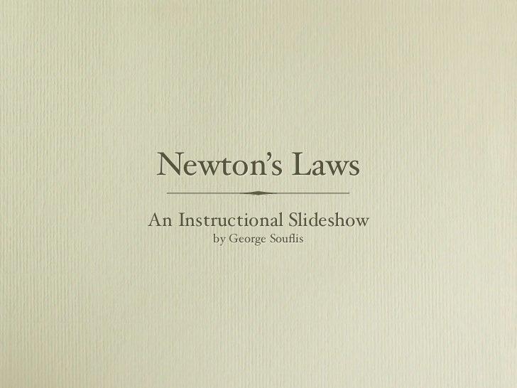 Newton's laws slideshow