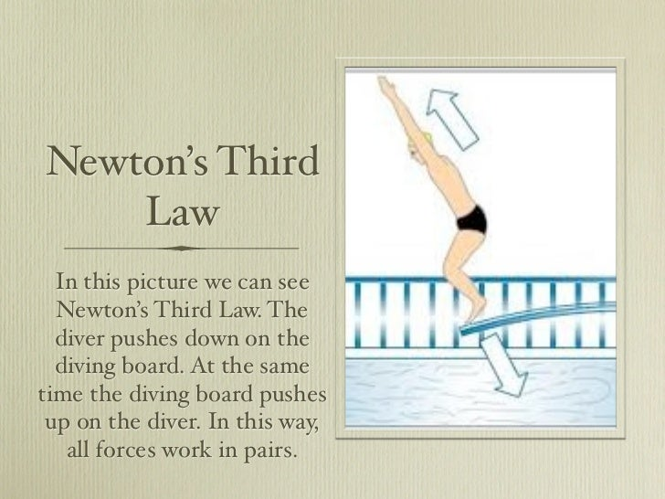 Newton S Third Law Examples For Kids