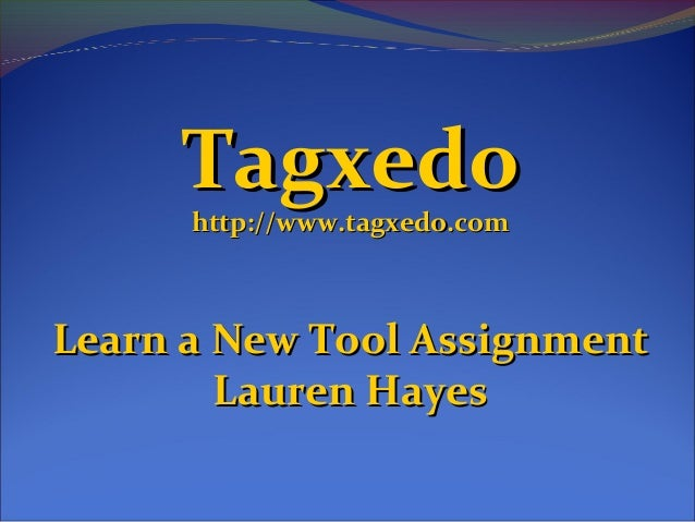 New Tool Assignment - Lauren Hayes