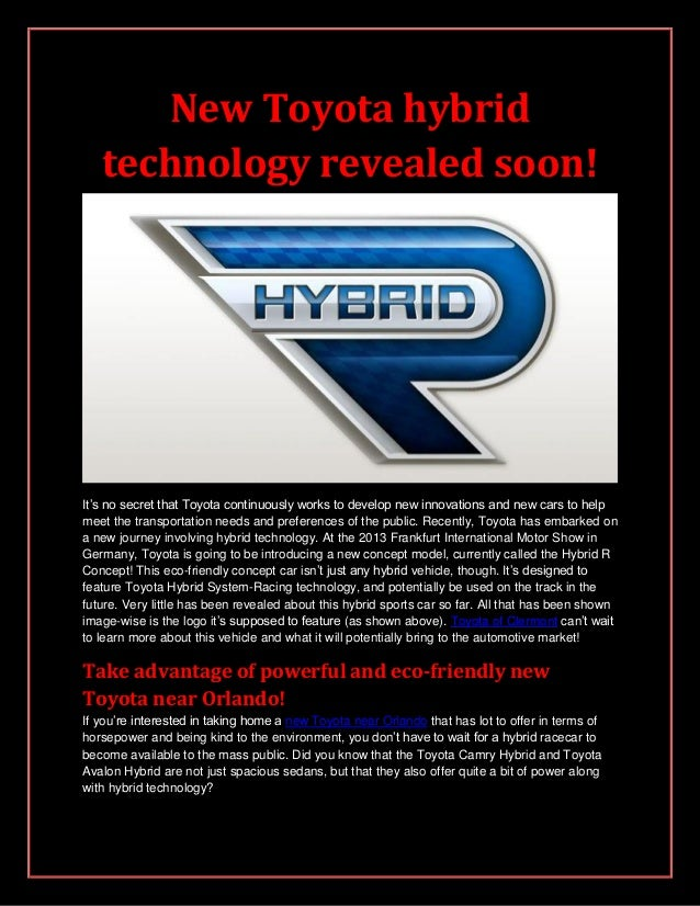 New Toyota hybrid technology revealed soon!
