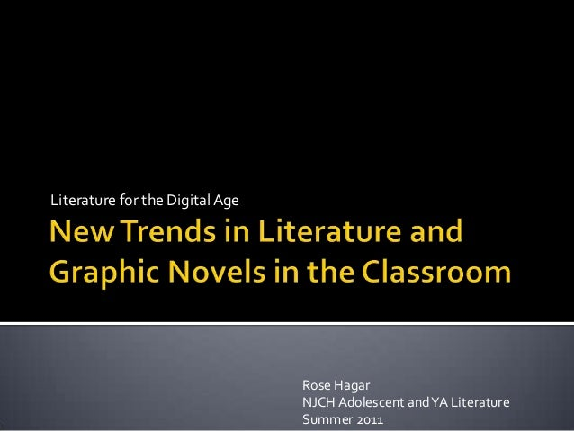 New trends in literature and graphic novels in