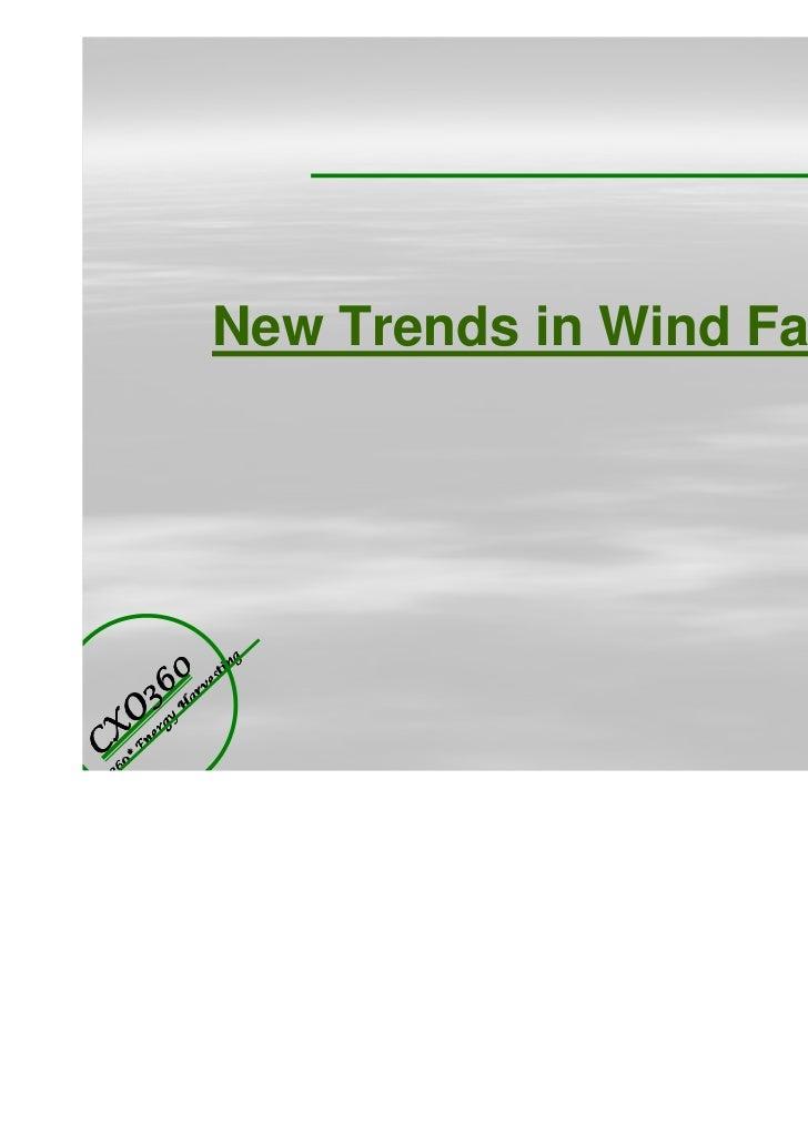New Trends in Wind Turbine