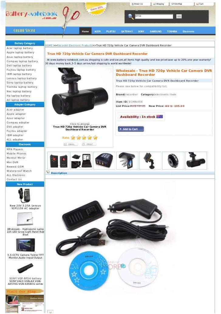 New true hd 720p vehicle car camera dvr dashboard recorder