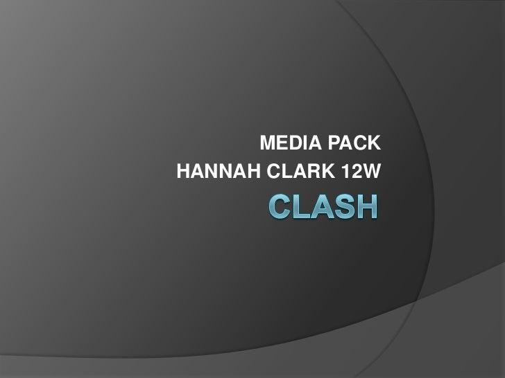 MEDIA PACKHANNAH CLARK 12W