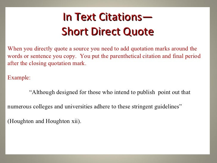 How to add a quote in a essay