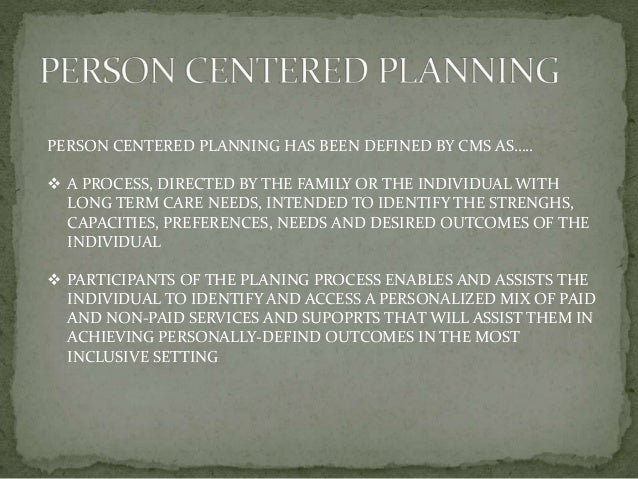person centered thinking and planning