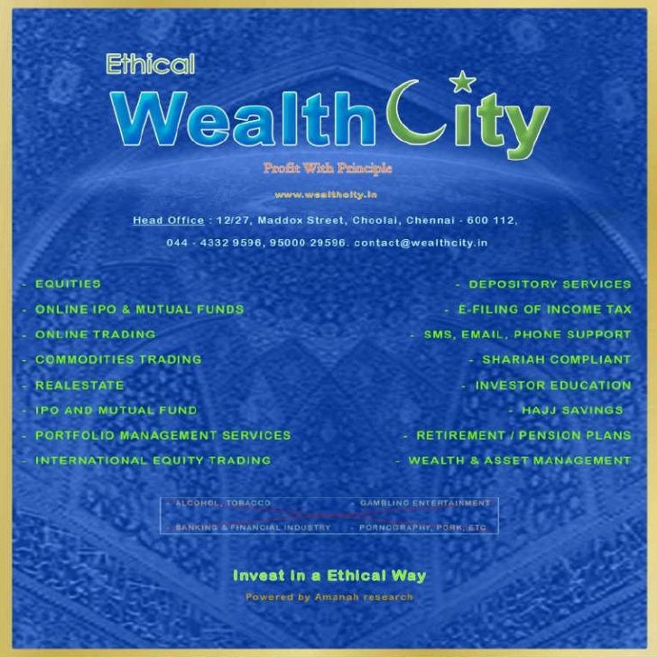 WEALTHCITY - WEALTH CITY - ISLAMIC INVESTMENT - SHARIAH INVESTMENTS - HALAL STOCKS - STOCK MARKETS - INDIA - MUSLIMS - SHA...