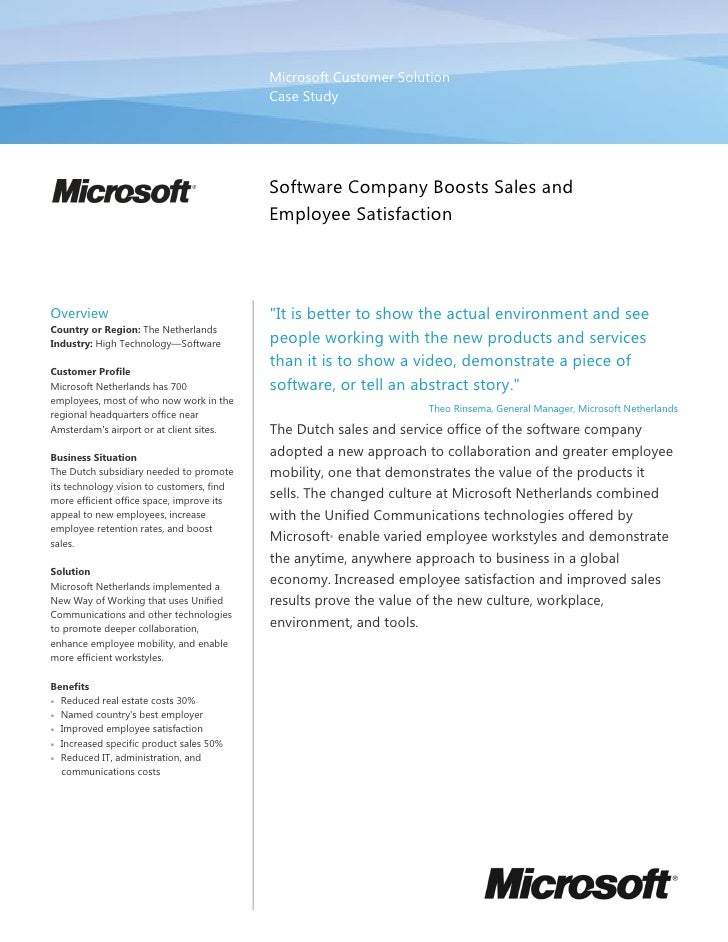 New World Of Work   Microsoft Netherlands Case Study
