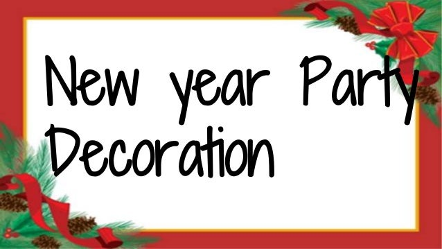 New year party decoration to make home ready for celebration - New year celebration at home ...