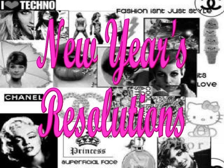 New Years Resolutions Veronica