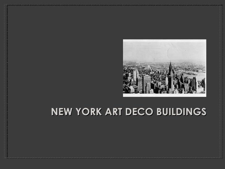 NEW YORK ART DECO BUILDINGS