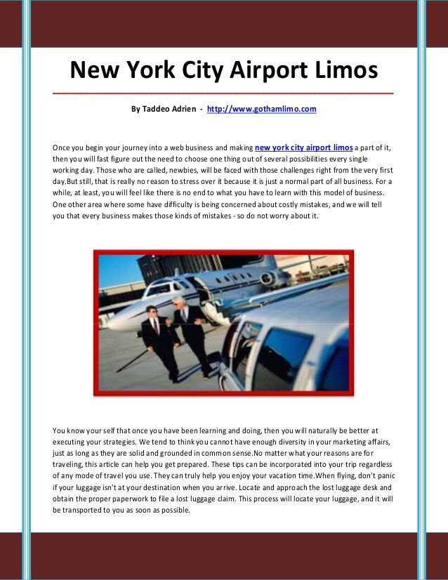 New York City Airport Limos_____________________________________________________________________________________          ...