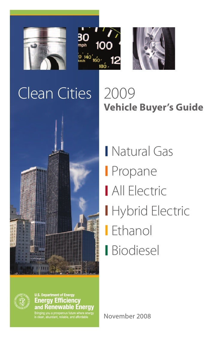 Clean Cities 2009            Vehicle Buyer's Guide              Natural Gas              Propane              All Electric...