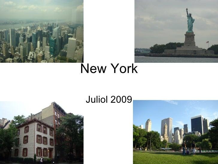 New York Juliol 2009